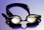 mirror lens metalized swim goggles